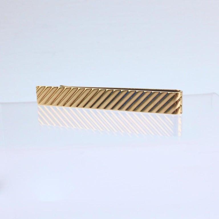 Tiffany & Co. 14 Karat Gold Modern Tie Clip or Tie Bar For Sale 5