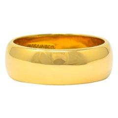 Tiffany & Co. 14 Karat Gold Unisex Vintage Wedding Band Ring