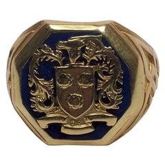 Tiffany & Co. 14 Karat Gold Westover School Crest Class Ring