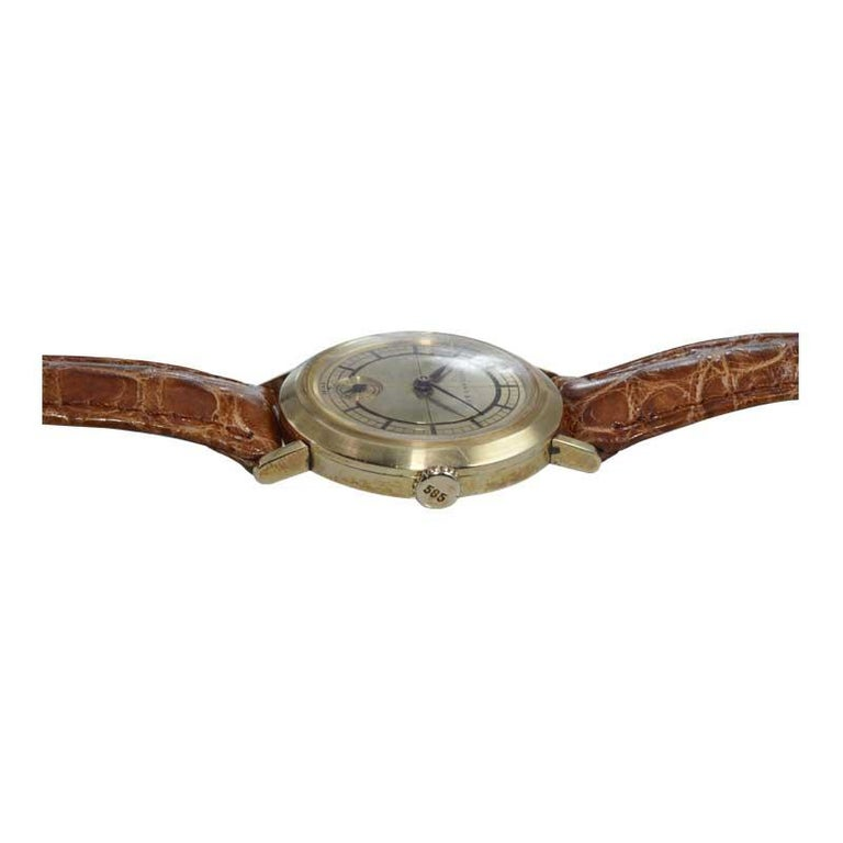 Tiffany & Co. 14 Karat Solid Yellow Gold Vintage Watch, circa 1930s For Sale 4