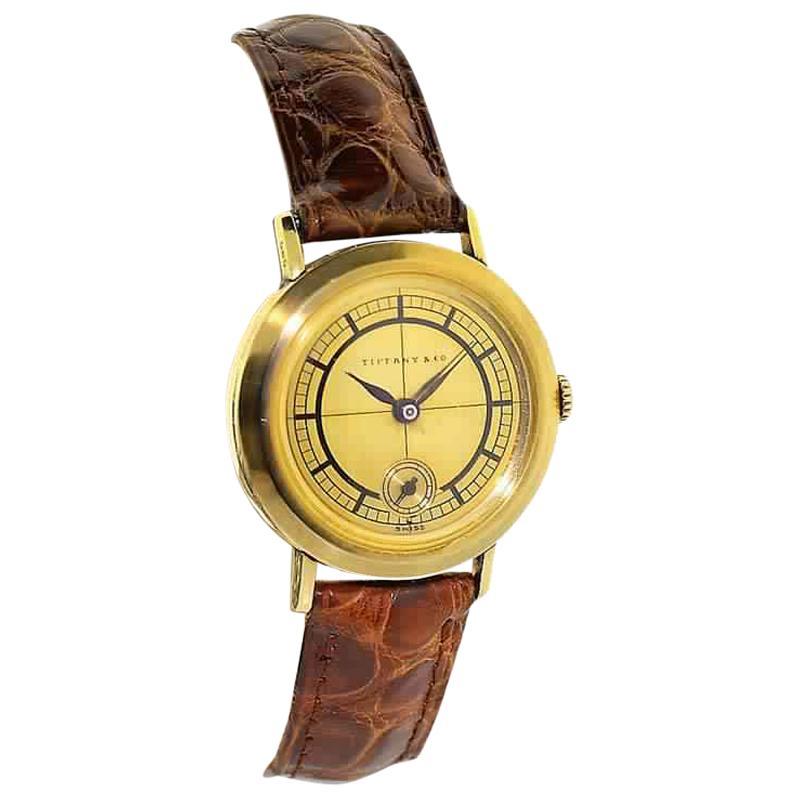 Tiffany & Co. 14 Karat Solid Yellow Gold Vintage Watch, circa 1930s
