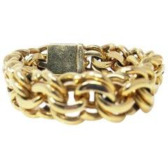 Tiffany & Co. 14 Karat Yellow Gold Charm Link Bracelet