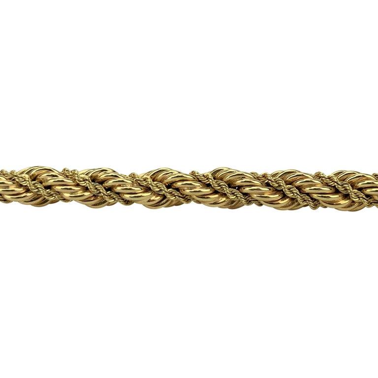 Women's Tiffany & Co. 14 Karat Yellow Gold Ladies Rope Twist Bracelet For Sale