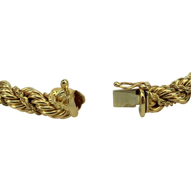Tiffany & Co. 14 Karat Yellow Gold Ladies Rope Twist Bracelet For Sale 1