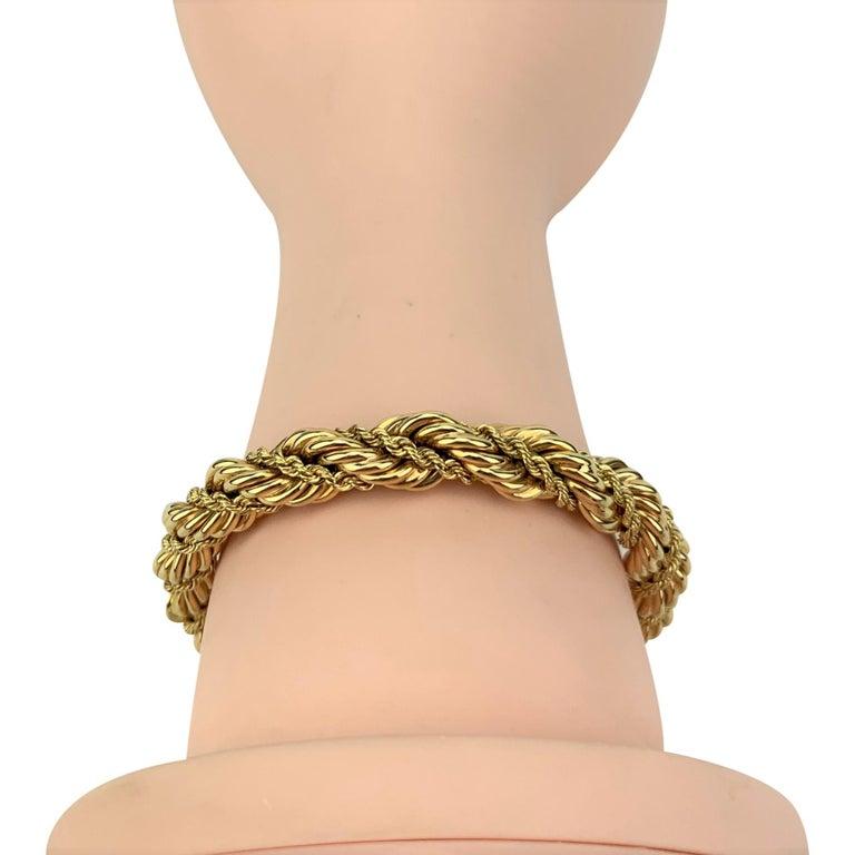 Tiffany & Co. 14 Karat Yellow Gold Ladies Rope Twist Bracelet For Sale 3