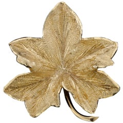 Tiffany & Co. 14 Karat Yellow Gold Leaf Brooch