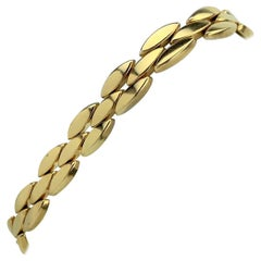 Tiffany & Co. 14 Karat Yellow Gold Marquise Link Bracelet