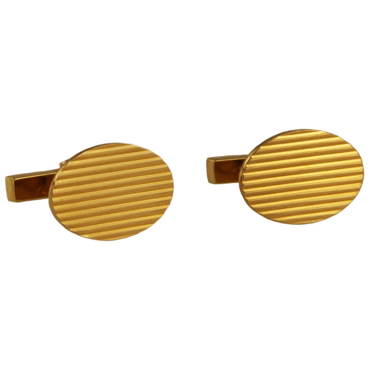 Tiffany & Co. 14 Karat Yellow Gold Men's Cufflinks