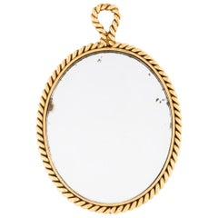 Tiffany & Co. 14 Karat Yellow Gold Mirror Pendant