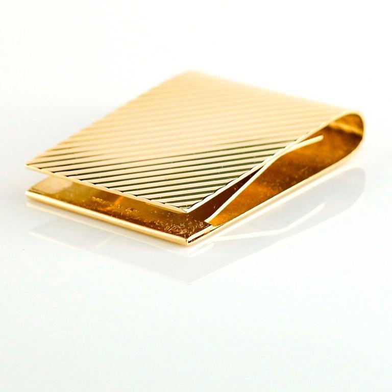 Retro Tiffany & Co. 14 Karat Yellow Gold Money Clip For Sale