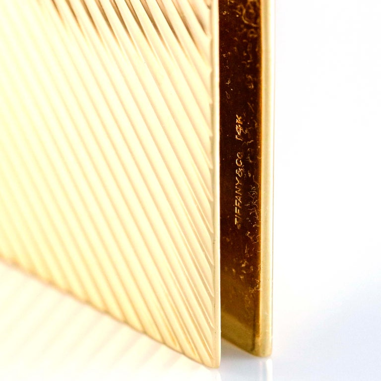 Tiffany & Co. 14 Karat Yellow Gold Money Clip In Good Condition For Sale In Fort Lauderdale, FL