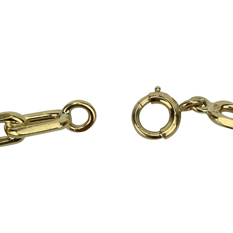 Tiffany & Co. 14 Karat Yellow Gold Oval Cable Link Bracelet For Sale 1