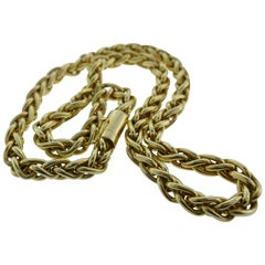 Tiffany & Co. 14 Karat Yellow Gold Rope Chain Necklace Vintage
