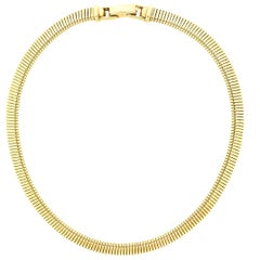 Tiffany & Co. 14 Karat Yellow Gold Tubogas Necklace