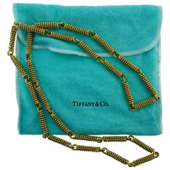 Tiffany & Co. 14 Karat Yellow Gold Twisted Link Chain Necklace circa 1970s Rare