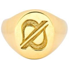 Tiffany & Co. 14 Karat Yellow Gold Unisex Signet Ring, circa 1960