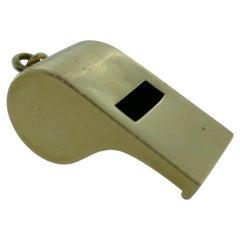 Tiffany & Co. 14 Karat Yellow Gold Whistle Charm Pendant Vintage and Rare
