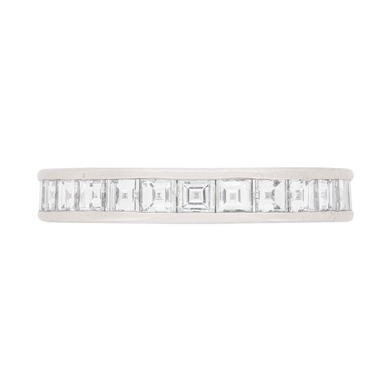 Tiffany & Co. 1.43 Carat Carre Cut Diamond Eternity Ring For Sale