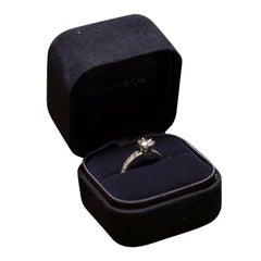 Tiffany & Co. 1.45 Carat Diamond and Platinum Engagement Ring with Wedding