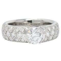 Tiffany & Co. 1.48 Carat Diamond and Platinum Engagement Ring GIA