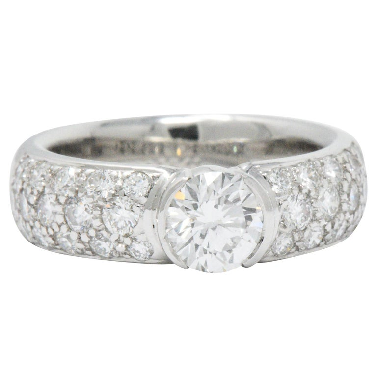 Tiffany And Co. 1.48 CTW Diamond And Platinum Alternative