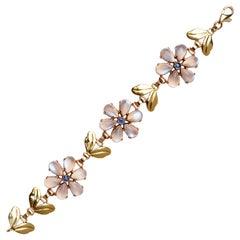 Tiffany & Co. 14k Yellow Gold and Moonstone Bracelet