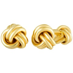 Tiffany & Co. 14 Karat Yellow Gold Knotted Cufflinks
