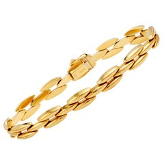Tiffany & Co. 14 Karat Yellow Gold Link Bracelet
