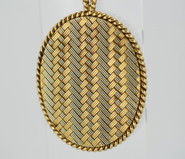 Tiffany & Co. 14 Karat Gold Mirror and Pendant, USA, circa 1940s For Sale 5