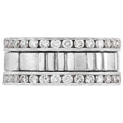 Tiffany & Co. 1.55 Carat Diamond and White Gold 'Atlas' Band Ring