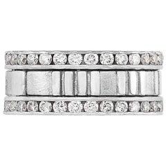 Tiffany & Co. 1.55 Carat Diamond and White Gold 'Atlas' Band Ring