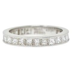Tiffany & Co. 1.55 Carats Diamond Platinum Eternity Band Ring