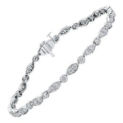 Tiffany & Co. 1.60 Carat Diamond Jazz Bracelet in Platinum