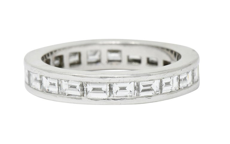 Women's or Men's Tiffany & Co. 1.68 Carat Diamond Platinum Channel Eternity Band