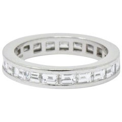 Tiffany & Co. 1.68 Carat Diamond Platinum Channel Eternity Band