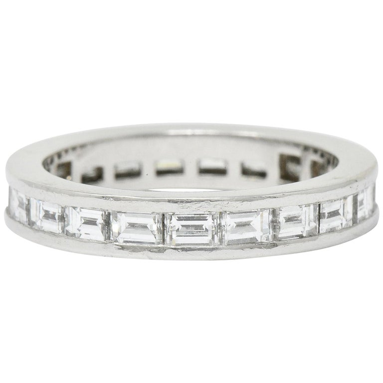 Tiffany & Co. 1.68 Carat Diamond Platinum Channel Eternity Band