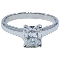 Tiffany & Co. 1.70 Carat Lucida F VVS2 Platinum Diamond Engagement Ring