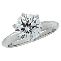 Tiffany & Co. 1.73 Carat Diamond and Platinum Engagement Ring