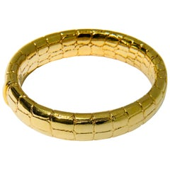 Tiffany & Co. 18 Carat '18 Karat' Yellow Gold Crocodile Bangle