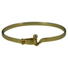 Tiffany & Co 18 Carat Gold Hook Eye Torque Bangle