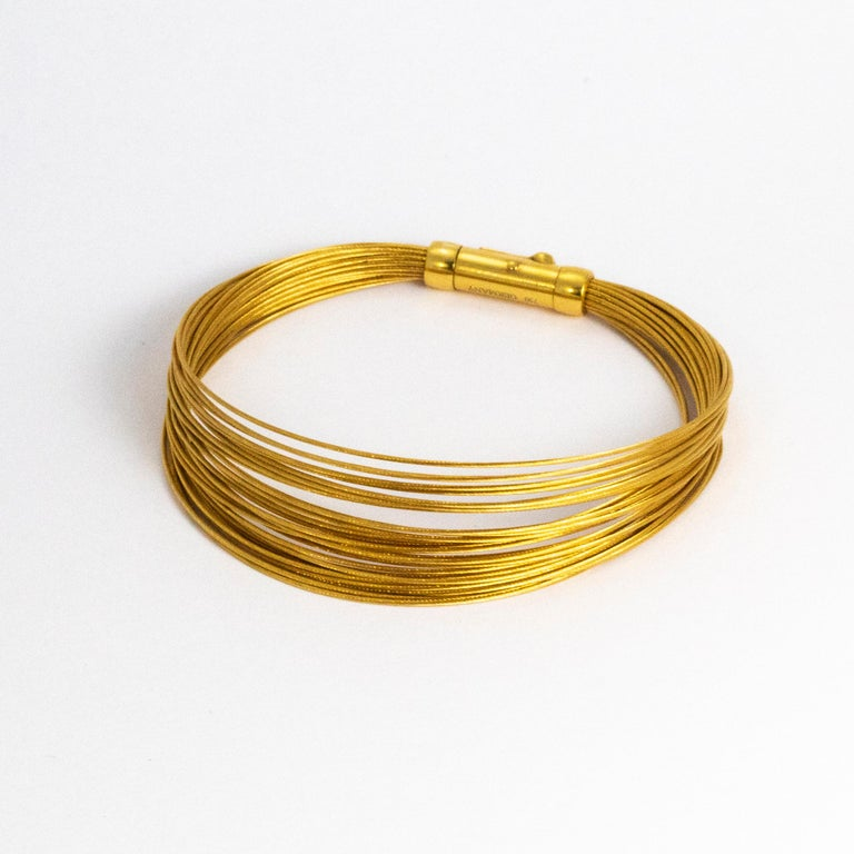 Tiffany And Co 18 Carat Gold Wire Bracelet For Sale At