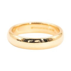 Tiffany & Co. 18 Carat Yellow Gold Tiffany Classic Wedding Band Ring