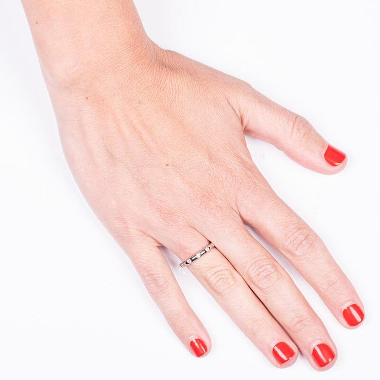 Round Cut Tiffany & Co. .18 Ctw Diamonds Platinum Bezet Ring For Sale