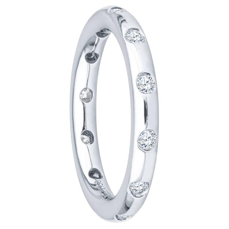 Tiffany & Co. .18 Ctw Diamonds Platinum Bezet Ring For Sale