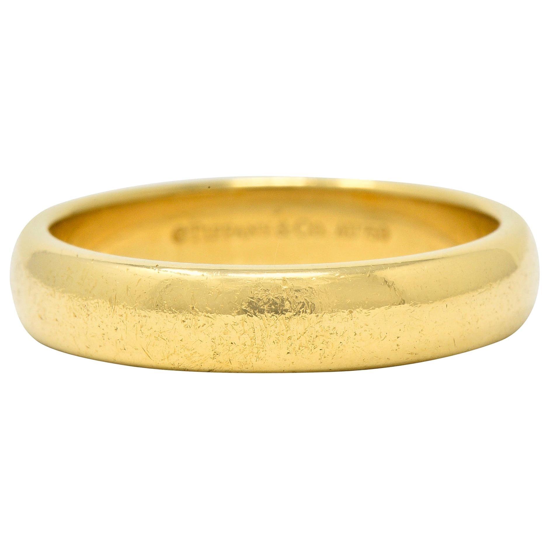 Tiffany & Co. 18 Karat Gold Men's Wedding Band Ring