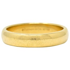 Tiffany & Co. 18 Karat Gold Men's Wedding Band Ring