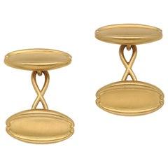 Tiffany & Co. 18 Karat Gold Art Nouveau Cufflinks