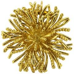 Tiffany & Co. 18 Karat Gold Brooch or Pendant, London Import, circa 1995