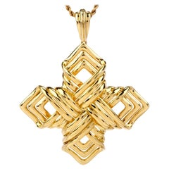 Tiffany & Co. 18 Karat Gold Covertible Brooch Pin Pendant