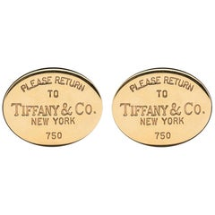 Tiffany & Co. 18 Karat Gold Cufflinks